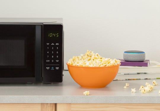 You can order popcorn through Amazon's Dash Replenishment program through the AmazonBasics Microwave.