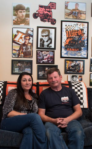 Kevin and Pamela Ward are left with pictures and memories of son Kevin Ward Jr. and his beloved dirt car.