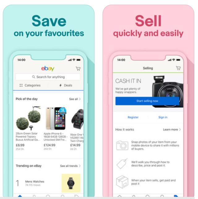 Save time by using the app instead of (or in addition to) the website. You can also chat with sellers or buyers from within the app, too.
