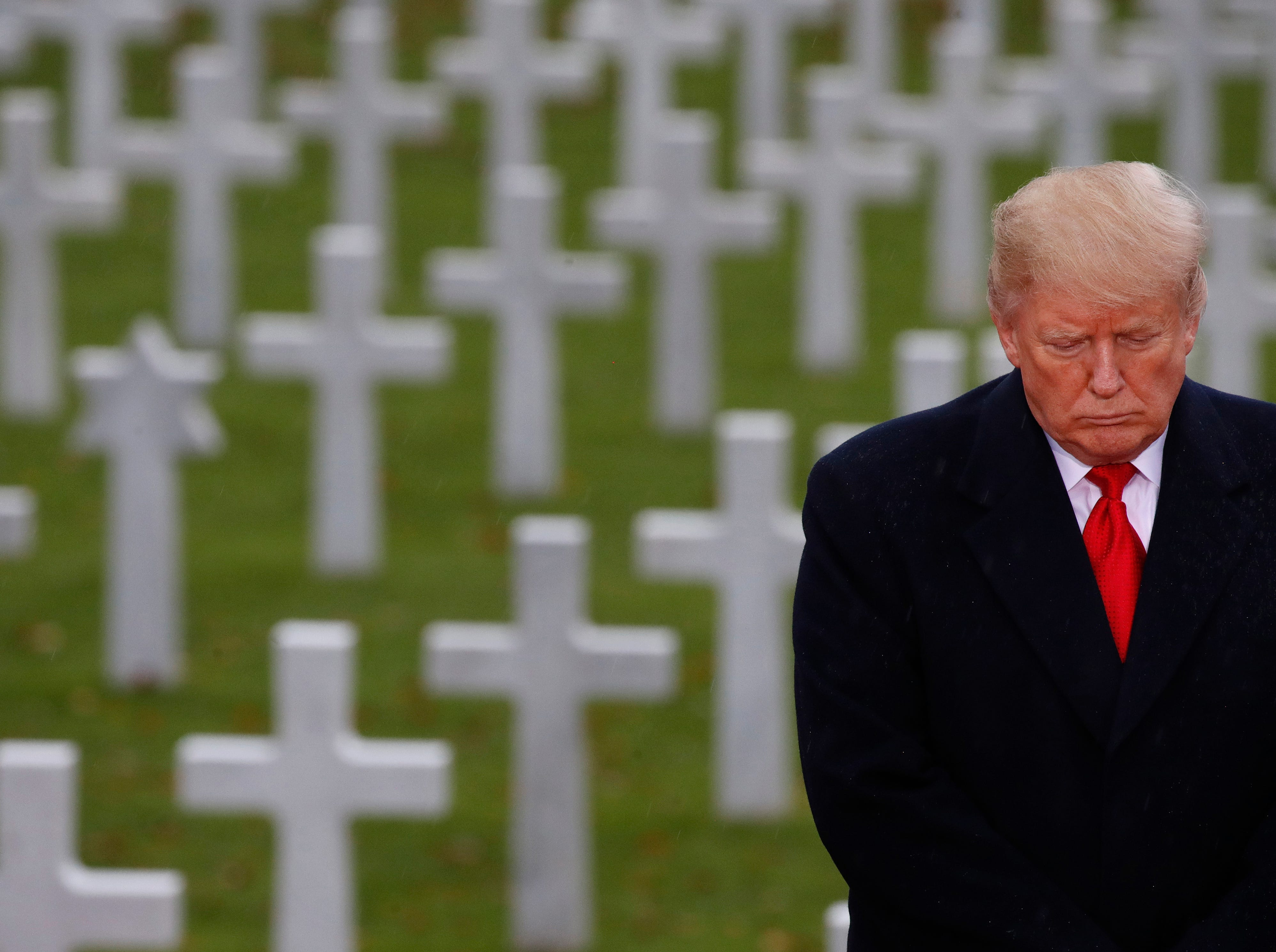 President Trump blames Secret Service for cancelling cemetery trip in France