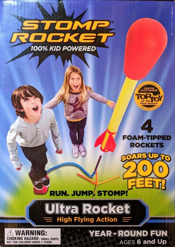 Stomp Rocket Ultra Rocket.