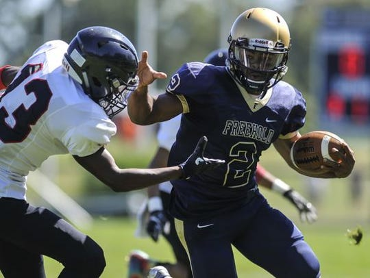 Freehold's Ashante Worthy shattered the Shore Conference rushing record with a 465-yard effort in a 2016 NJSIAA game.