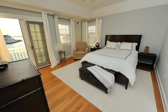 The Master bedroom features a set of French Door with a private deck.
