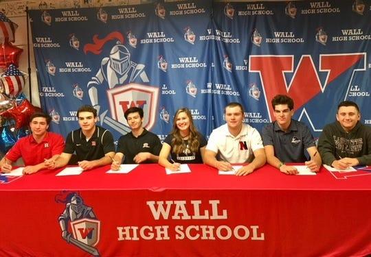 Wall High School Athletes Sign their NLI on Nov. 14, 2018 at Wall High School.