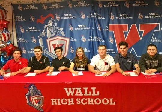 Wall High School Athletes Sign their NLI on Nov. 14, 2018 at Wall High School.