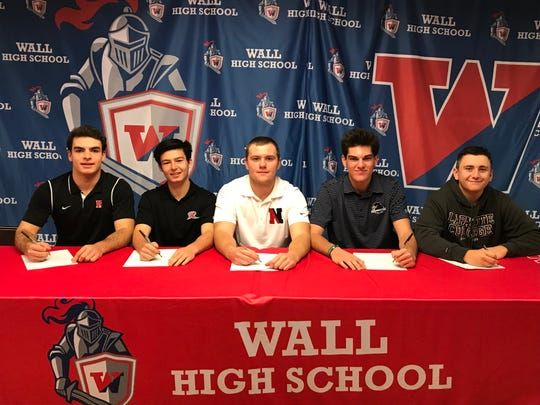 Wall baseball players sign NLI on Nov. 14, 2018