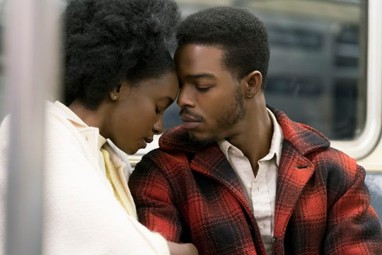 "KiKi Layne as Tish, left, and Stephan James as Fonny in Barry Jenkins' ""If Beale Street Could Talk,"" an Annapurna Pictures release."