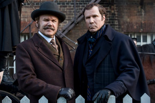 "Sherlock Holmes (Will Ferrell), left, and Watson (John C. Reilly) in Columbia Pictures' ""Holmes and Watson."""