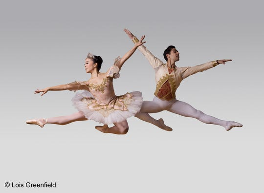"Nanako Yamamoto and Aldeir Monteiro perform in ""The Nutcracker"" by American Repertory Ballet."