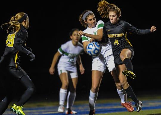 NJSIAA Girls Soccer State Semifinals Brick vs Moorestown in Toms River on Nov. 13, 2018.