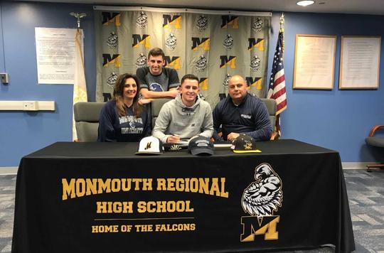 National Signing Day at Monmouth Regional on Nov. 14, 2018. (Family) (L-R) Maria Ciaramella , Christian Ciaramella, Dante Ciaramella, Greg Welsh