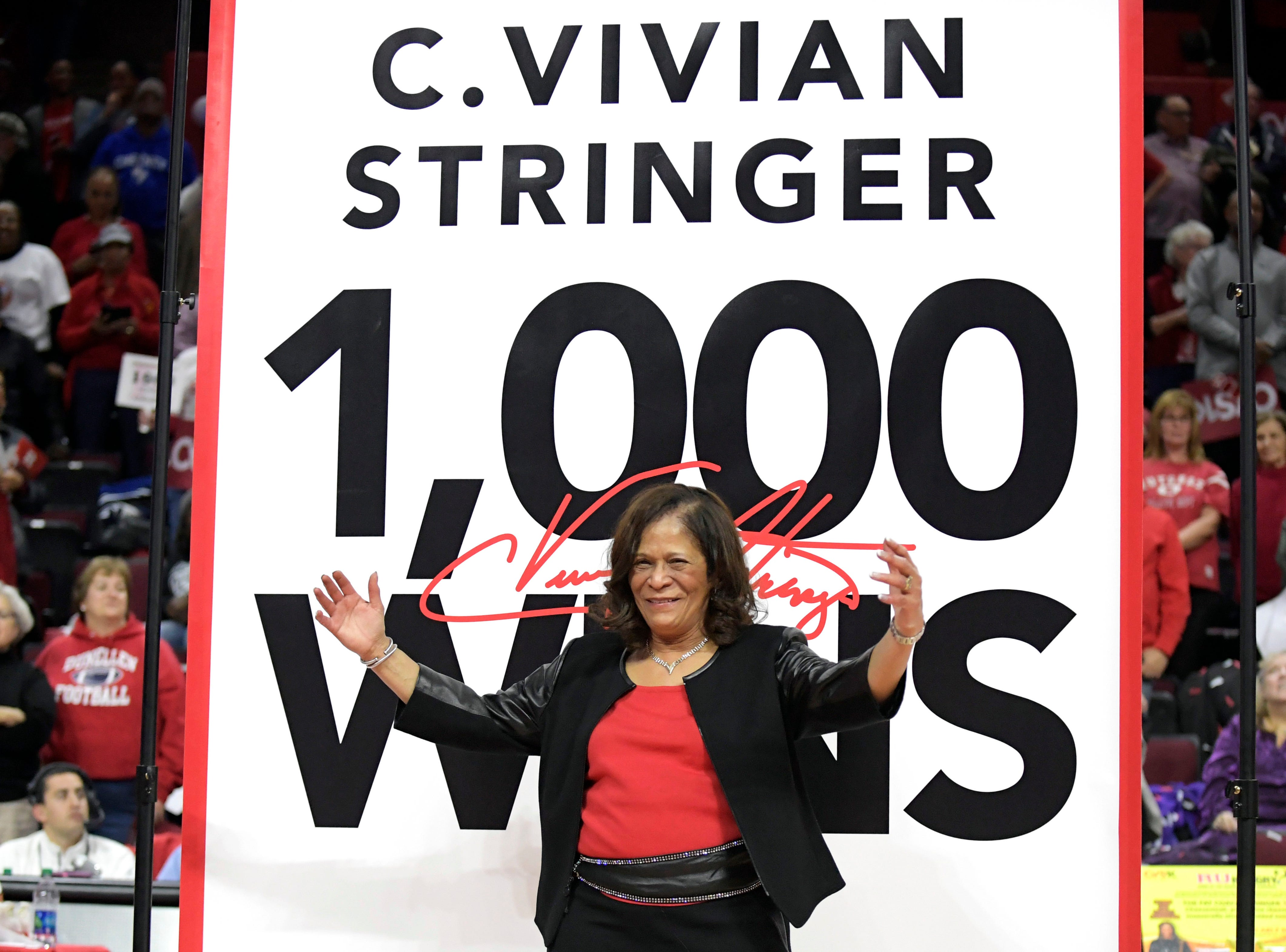 Rutgers' C. Vivian Stringer wins 1,000th game with rout of Central Connecticut