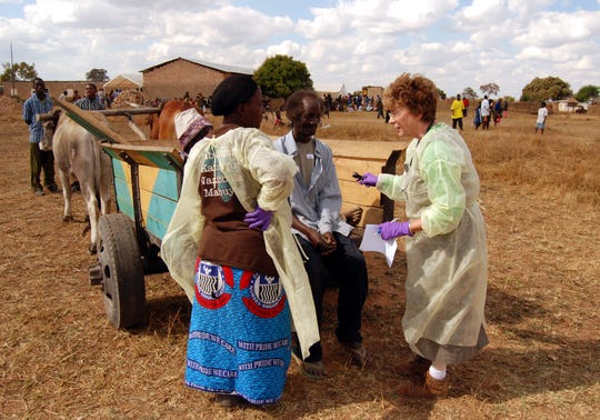 Dr. Sandra Hazelip in action as a volunteer at the Zambia Mission.