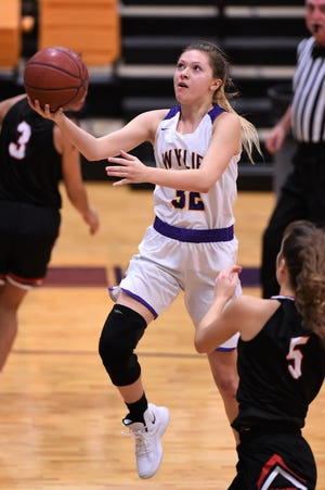 Skylar Williams (32) is coming off her second 19-point game of the season as Wylie begins the Kids, Inc. Tournament of Champions on Friday in Canyon. The Lady Bulldogs open the tournament against Class 6A sixth-ranked Allen at 1:30 p.m.