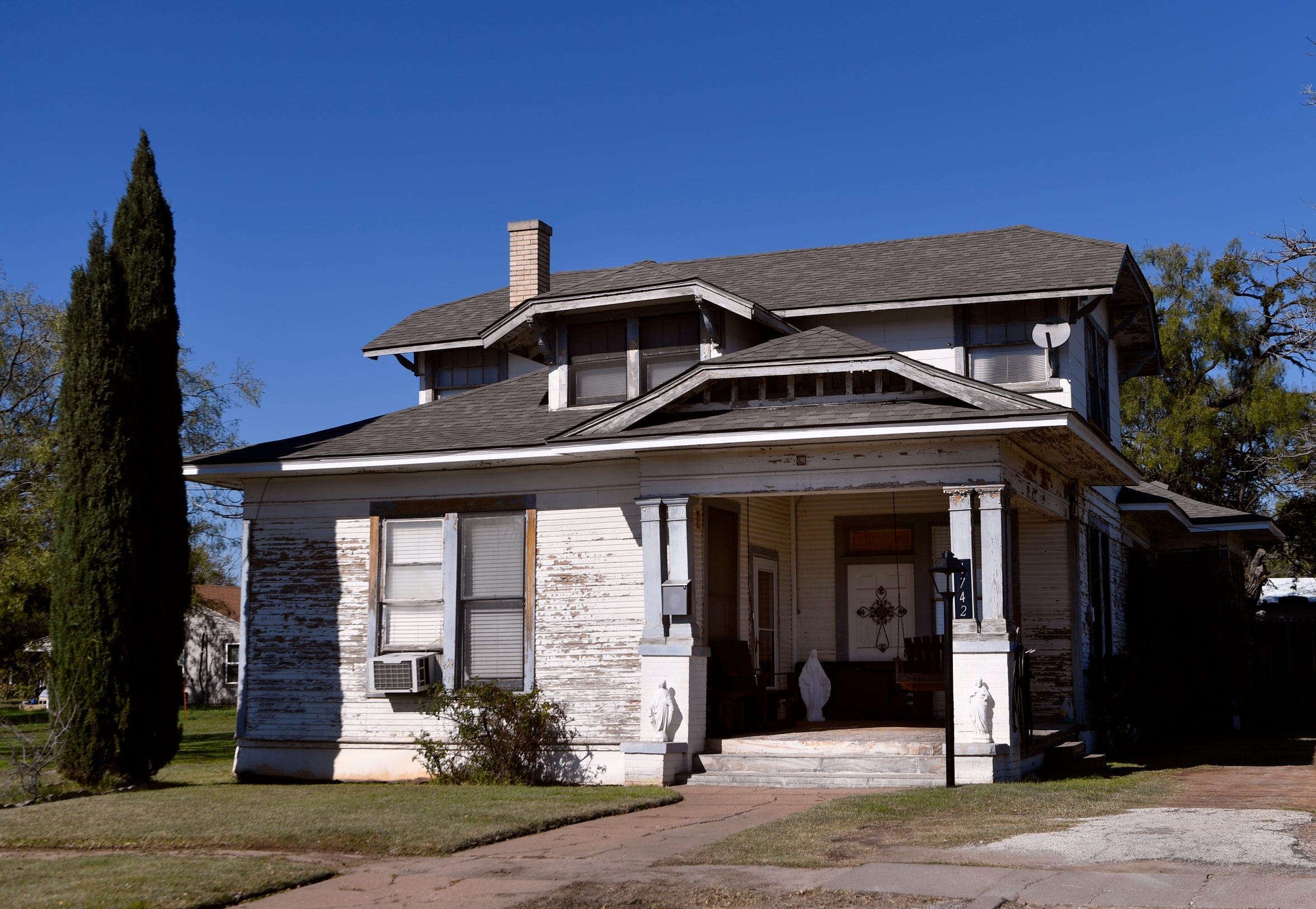 The home at 1742 N. Second Street, designed by and originally lived in by Abilene architect David S. Castle.