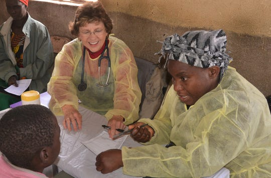Dr. Sandra Hazelip, of Abilene, provides her medical expertise to those at the Zambia Mission.