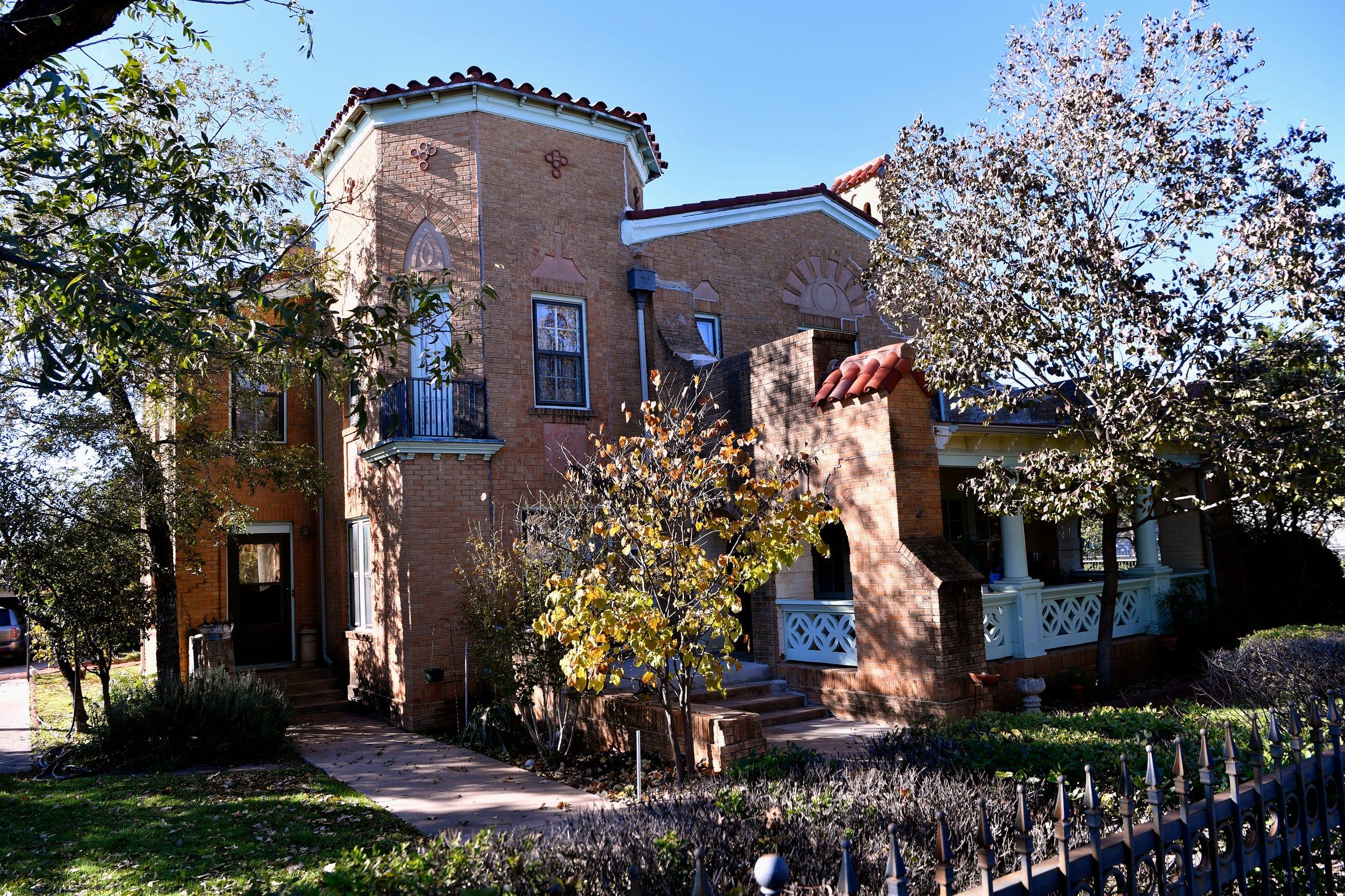 The home at 2102 Swenson Street, designed by Abilene architect David Castle.