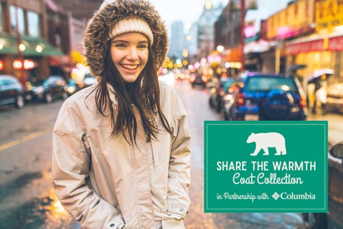 Mast General Stores in Western North Carolina partner with Columbia Sportswear for its Share the Warmth Coat Collection throughout November.