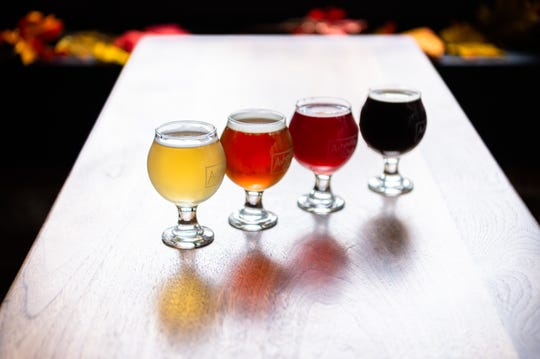 Eurisko Beer Company's Kleiner Pilsner, Sierra Nevada's Northern Hemisphere, New Belgium's Transatlantique Kriek and Pisgah Brewing's Blackstrap Pumpkin Porter.