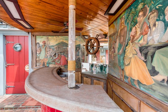 Hand-painted murals, commissioned by W.K. Kellogg, decorate the walls of Kellogg's mansion in Dunedin, Florida, which he bought in 1934.