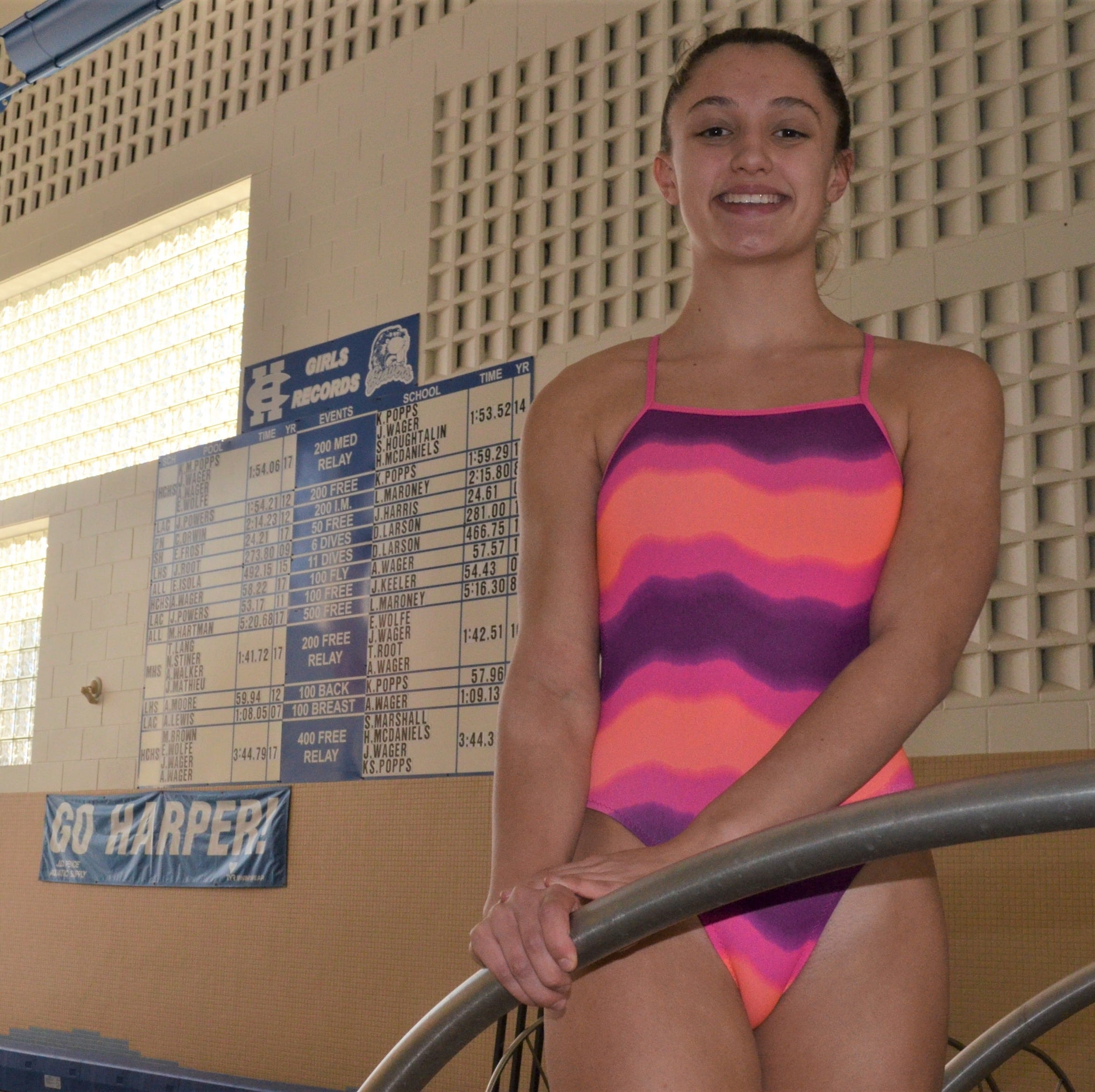 Harper Creek swimmer Alysa Wager hopes to go from record-breaker to state champ