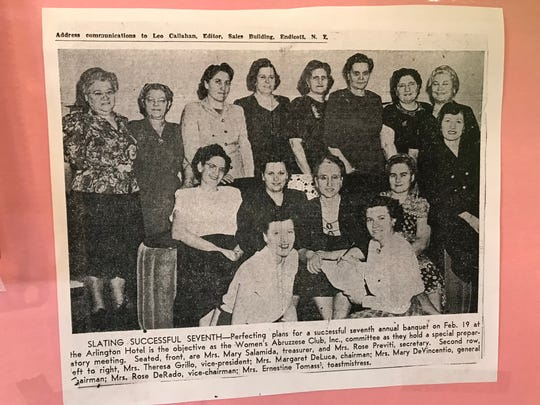 Women's Abruzzese Club in Binghamton celebrated its anniversary in October at Traditions at the Glen.