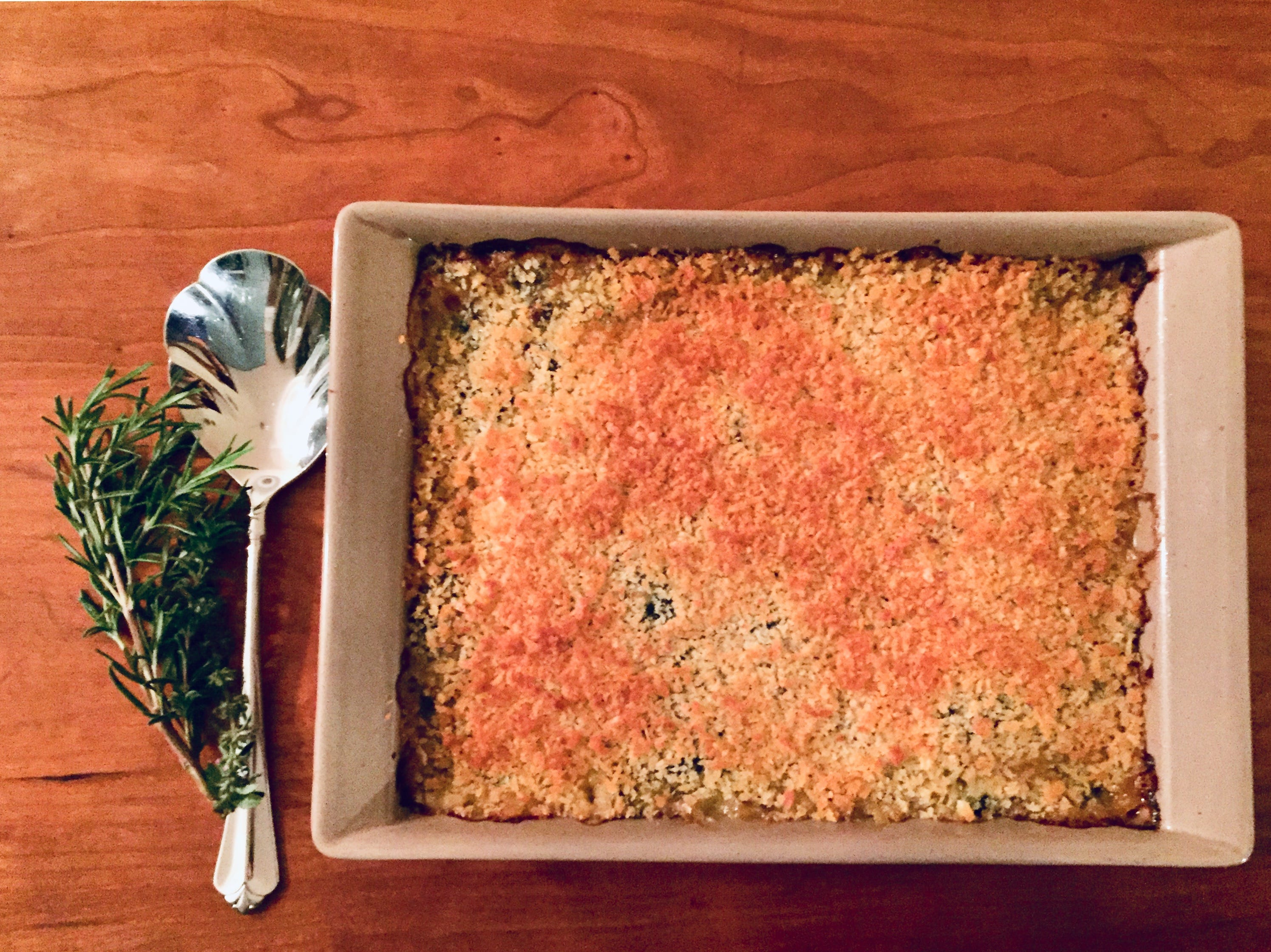This chard gratin can be made ahead of time to help in your Thanksgiving preparations.