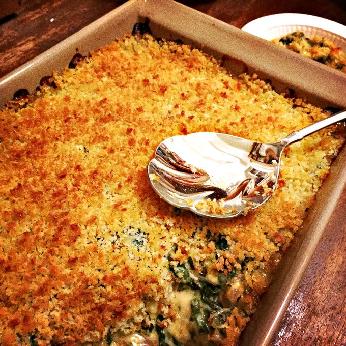 Buttered bread crumbs and cheese help make this vegetable suitable for the comfort-food-laden Thanksgiving table.
