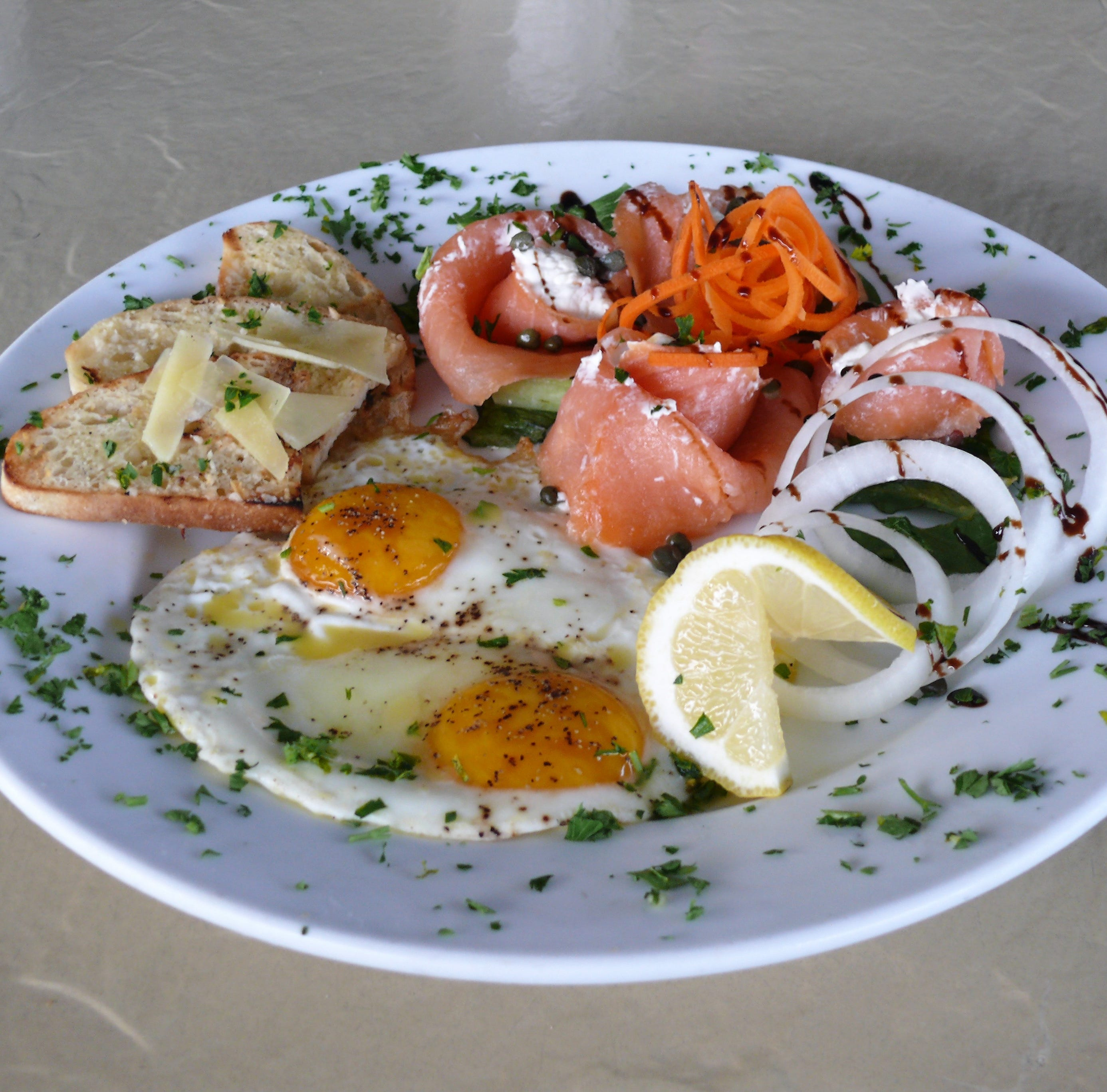 Salmon roses at Fresh Scratch Bistro in Indian Harbour Beach are savory treats