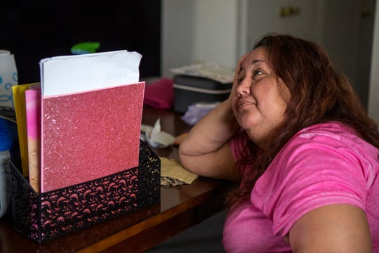 Veronica Salinas, 46, lived for two months with a hole in her dining room at her apartment at Rincon Point Apartments in Taft, when she awoke one night to the ceiling falling in her living room. Gregory Housing Authority, which declined to comment, withheld rent until her ceiling was repaired and Adult Protective Services also got involved. Salinas finally had her apartment partially repaired and plywood is covering the holes in her ceiling.