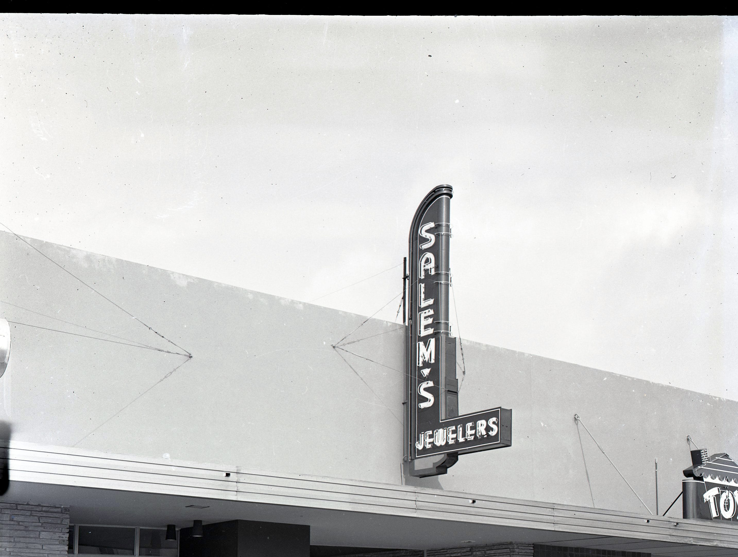 Salem's Jewelers at 1819 S. Alameda St. in Six Points in a photo from the 1950s. The Toy House is next door.