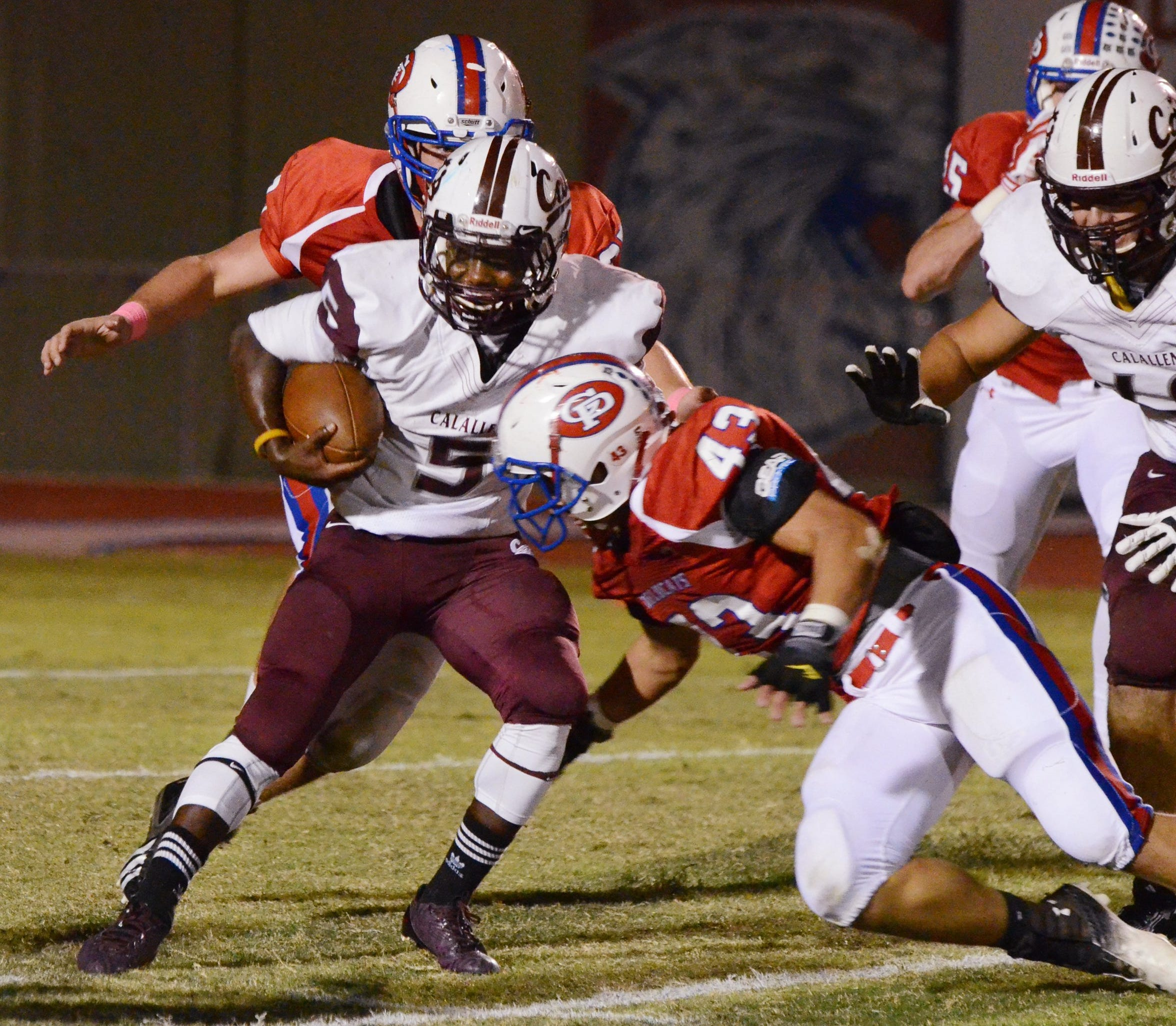 Chris Price played at Calallen from 2012 to 2014, which his best season rushing in 2013 when he rshed for 701 yards.
