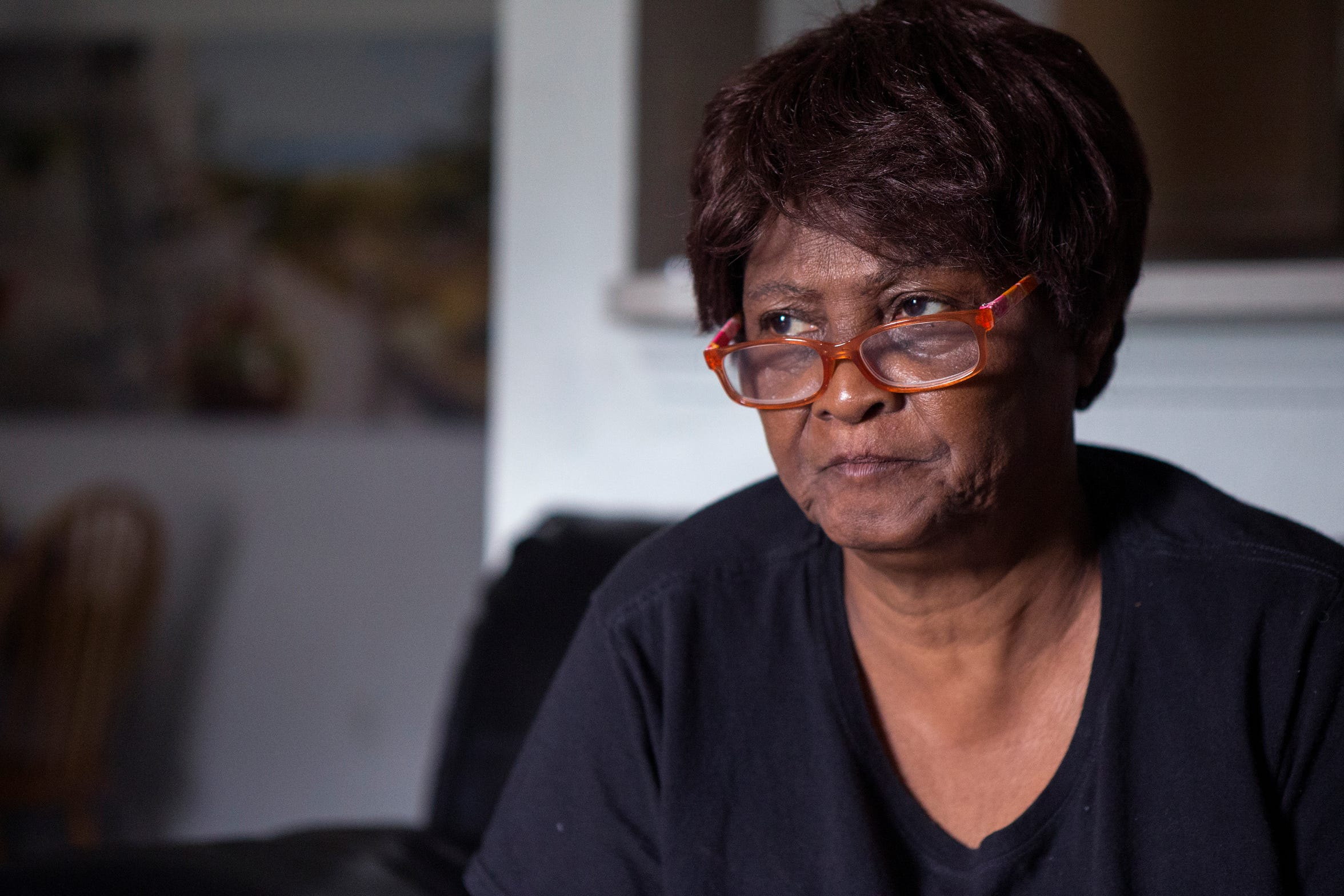Jacquline Fennel, 70, has a hole in her living room that leaks every time it rains at her apartment at Rincon Point Apartments in Taft. A recent inspection by the Texas Department of Housing and Community Affairs gave the complex a 23 out of a possible 100 points.