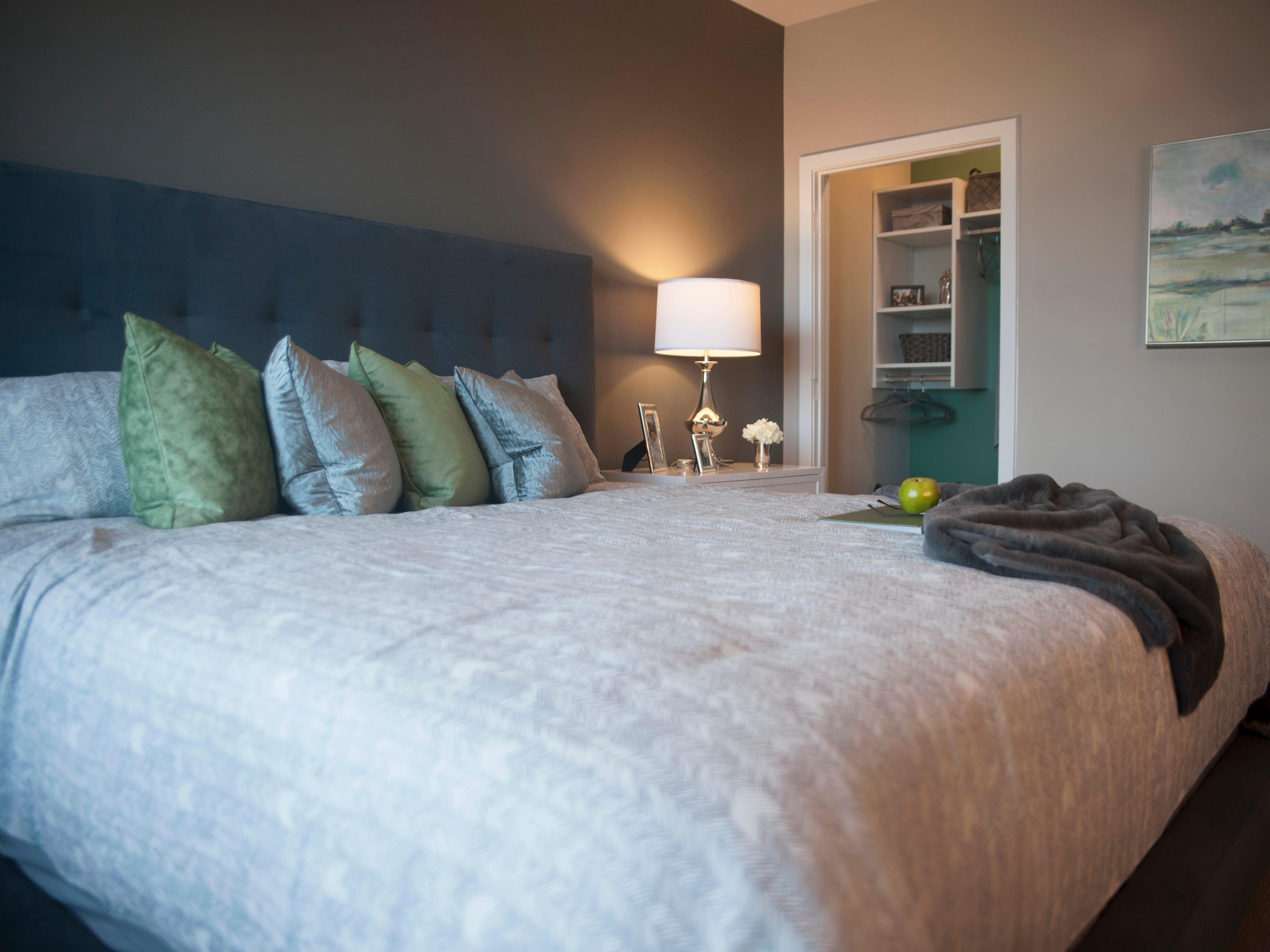 A view of a bedroom room of a model apartment at Haddon Point, a large-scale apartment complex located on the former Pennsauken Mart site, that opened Wednesday, November 14, 2018.