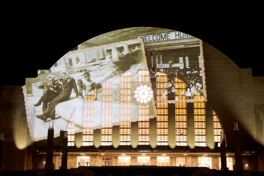 In honor of the reopening of The Cincinnati Museum Center, Prestige AV & Creative Services worked with Landor Associates to illuminate the facade of Union Terminal.