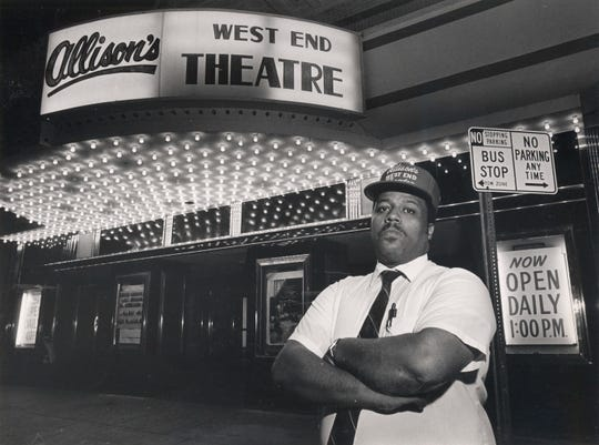 Mike Allison, pictured, and his father, Frank Allison, converted the old State Theater into Allison's West End Theatre in 1986.