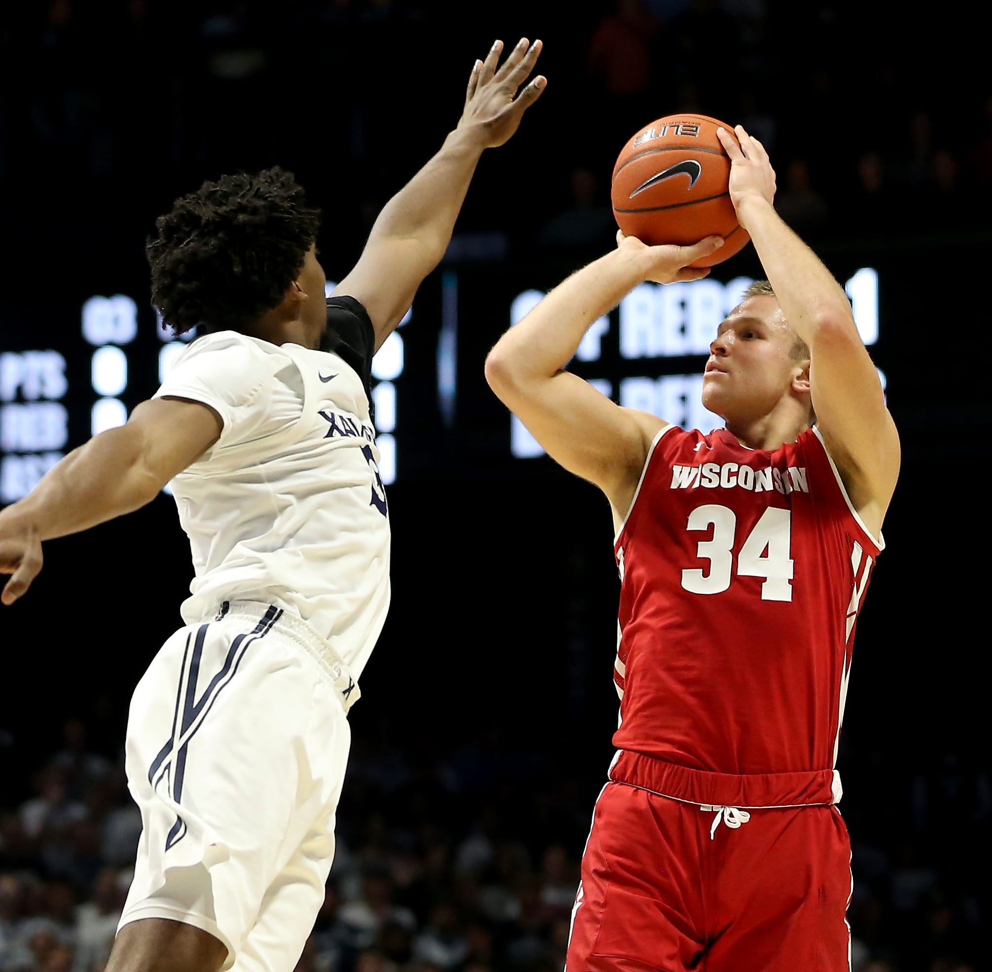 Badgers fans loved Brad Davison's 'Gator Chomp,' which showed Wisconsin hadn't forgotten Xavier villain JP Macura