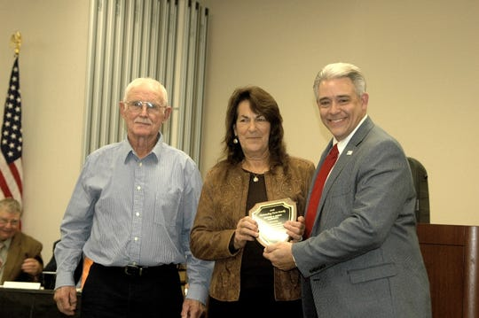Outstanding Farm Family Award…………Ronnie & Jenny McKinney; presented by Jay Albertia, Clarksville Chamber of Commerce