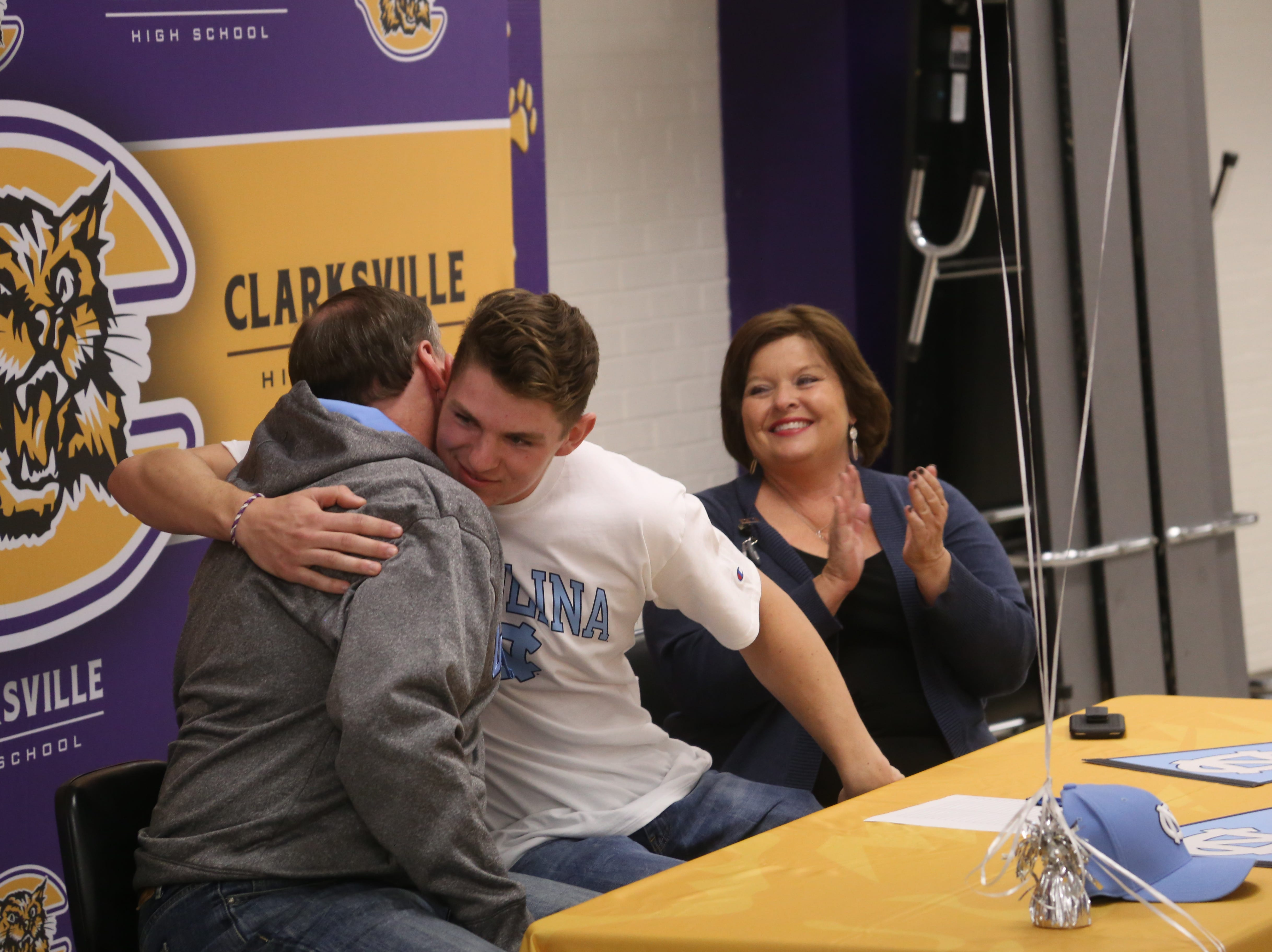 Three Clarksville athletes sign with colleges in baseball, soccer, basketball