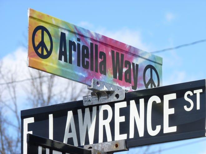 Herbert Avenue in Milltown was dedicated in honor of Ariella Hopkins.