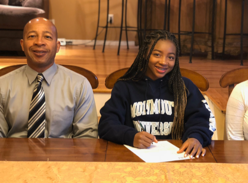 Chantel Osley signed her NLI this to attend Monmouth University on a track and field scholarship.