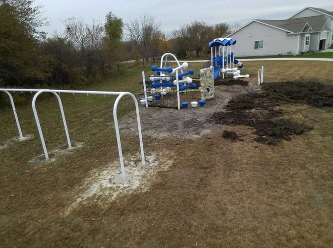 Efnor Estates Park will sit at 401 Eva Point Drive SW in Bondurant. The park will open Saturday and feature playground equipment geared toward younger children.