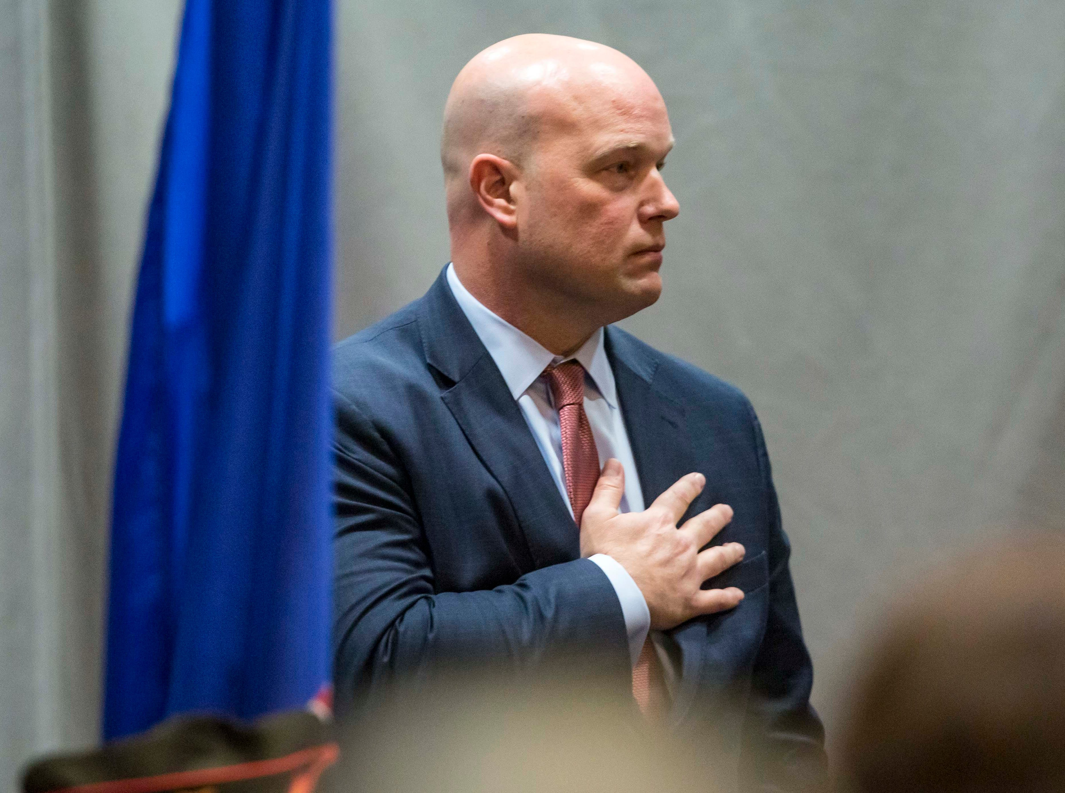 Acting Attorney General Matt Whitaker gives remarks Wed. Nov 14, 2018, at the  Rural and Tribal Elder Justice Summit in Des Moines, Iowa.