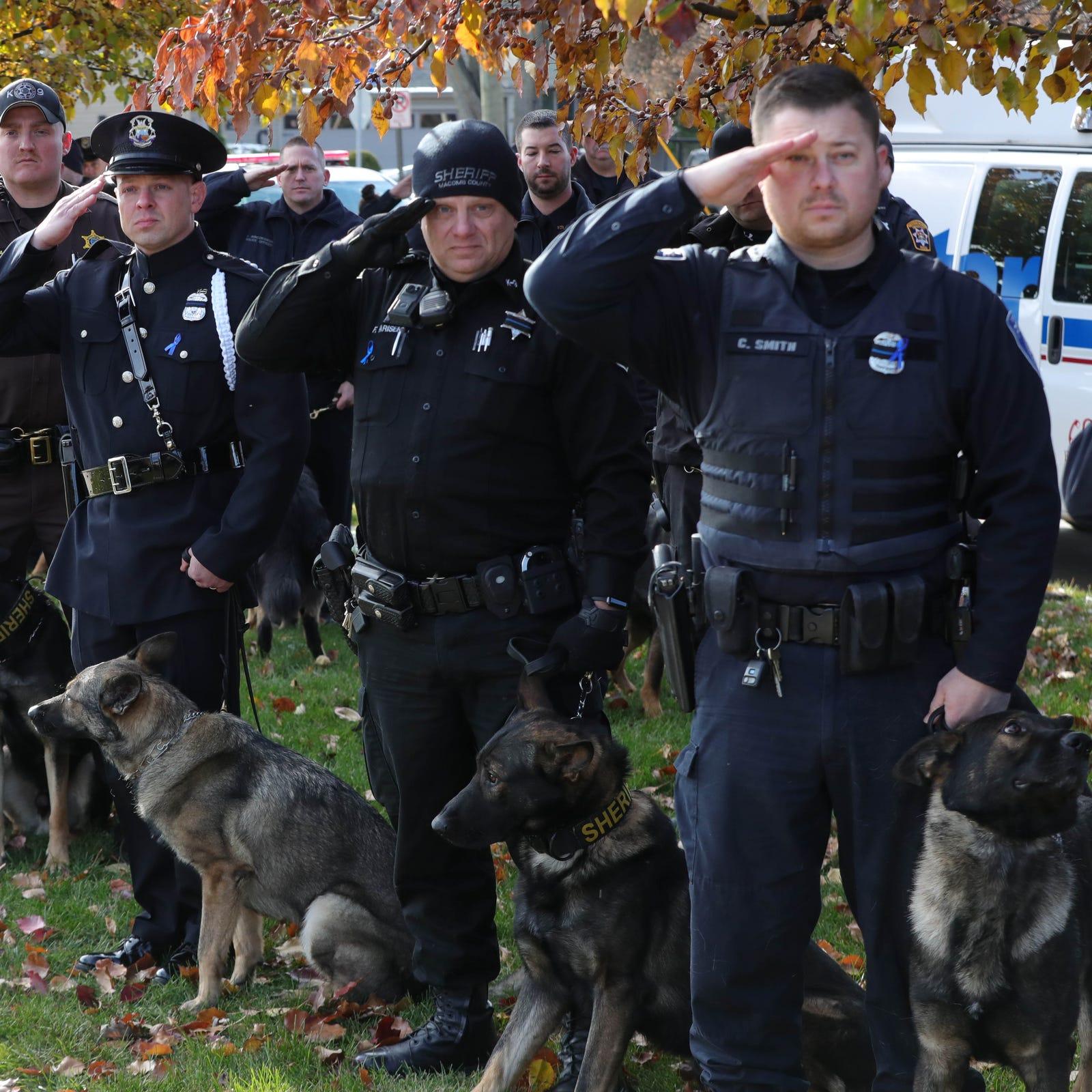 Slain police dog Axe remembered at St. Clair Shores service