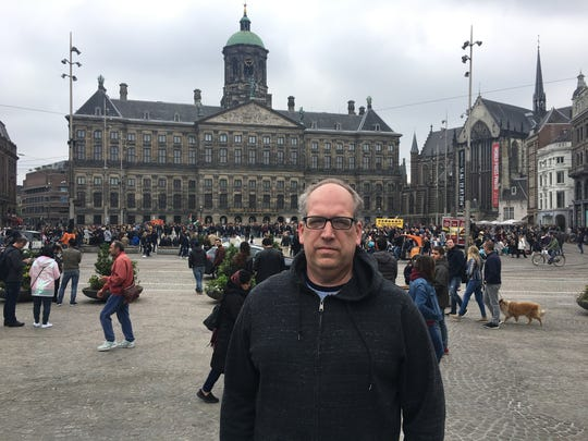 Free Press sports columnist Shawn Windsor toured Amsterdam to find spots where his dad, Walter Windsor, stood to take photos 40 years ago.