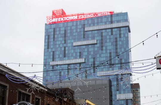The Greektown Casino-Hotel in Detroit  is photographed on Wednesday, January 10, 2018.