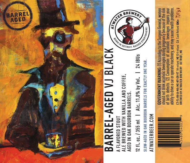 Bourbon Barrel-Aged VJ Black, a stout from Atwater Brewery, releases Nov. 15, 2018.