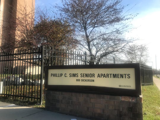 The double homicide took place Tuesday night at the Philip Sims Senior Housing, 800 Dickerson, in Detroit.