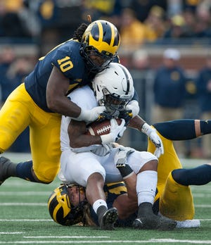 Linebacker Devin Bush is a projected first-rounder if he chooses to enter the NFL draft.