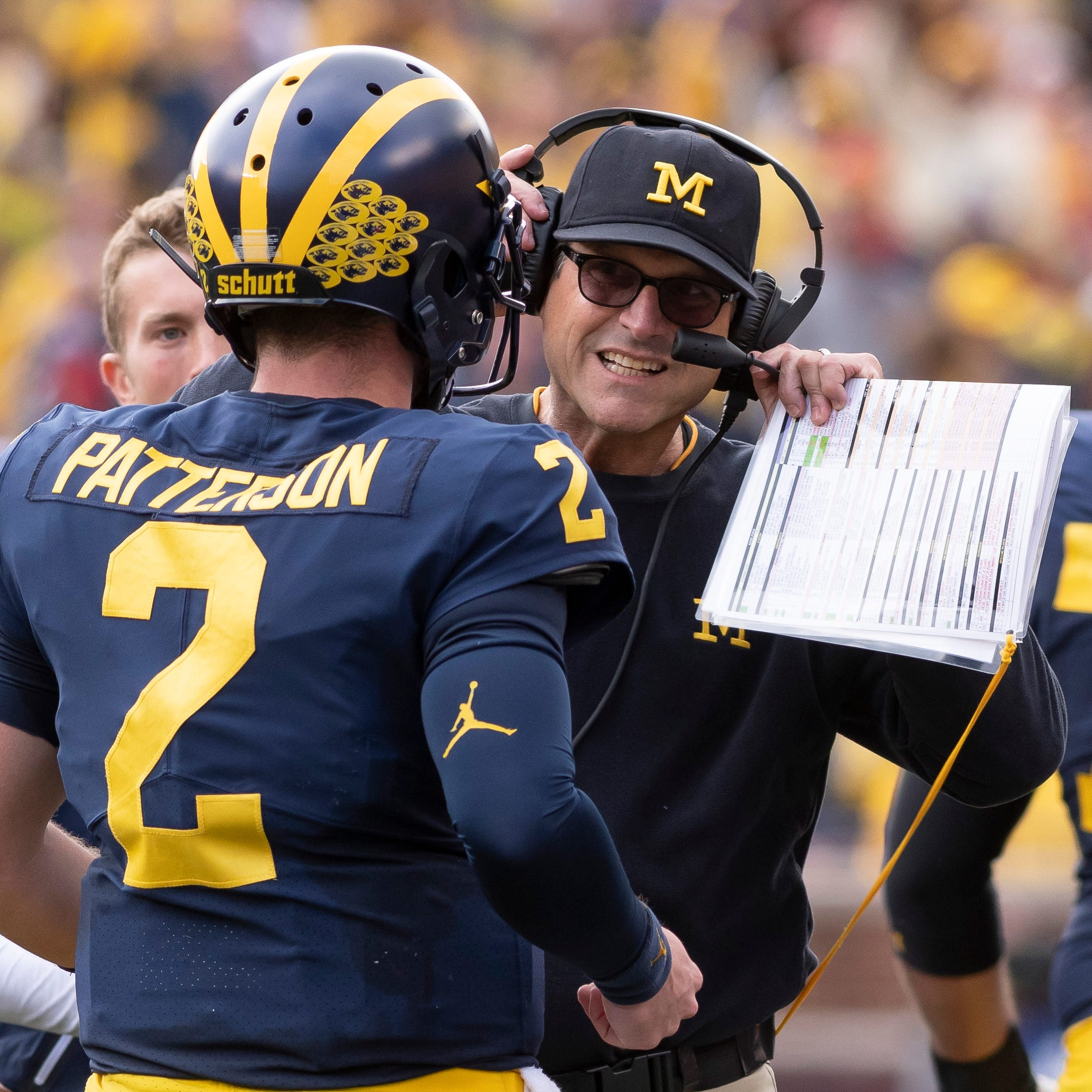 'No handcuffs': Harbaugh never frets about Patterson's decision-making
